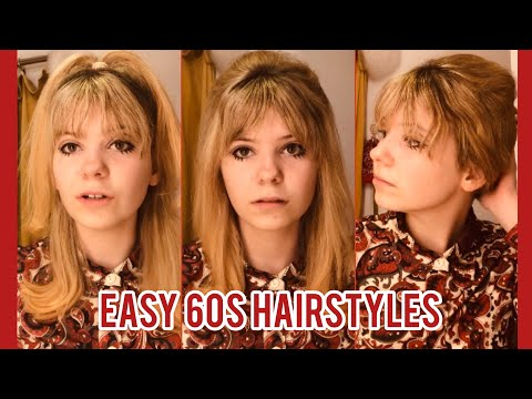 3 easy 60's hairstyles