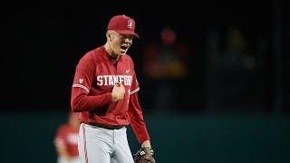 Highlight: No. 2 Stanford baseball knocks off No. 1 UCLA on Will Matthiessen walk-off hit