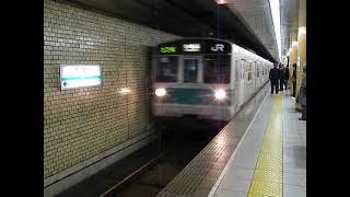 千代田線JR203系マト58編成 西日暮里駅到着