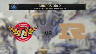 SK TELECOM T1 VS ROYAL NEVER GIVE UP   WORLDS 2019   GRUPOS DÍA 2   League of Legends