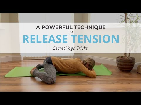 Release tension with this powerful technique - a short hip opening yoga sequence