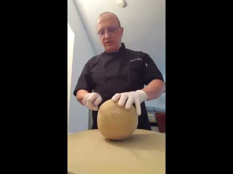 Private Chef For Hire / Peeling Cantaloupe / www.privatechefforhire.com