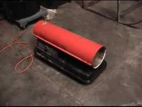 Torpedo Heater On Biodiesel Youtube