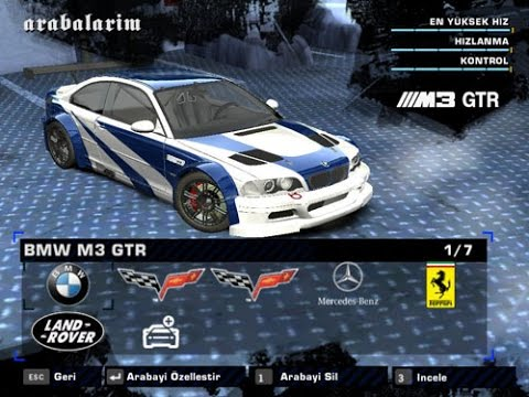 Need For Speed Most Wanted Car Mod Bmw M3 Gtr E46 2012 Youtube