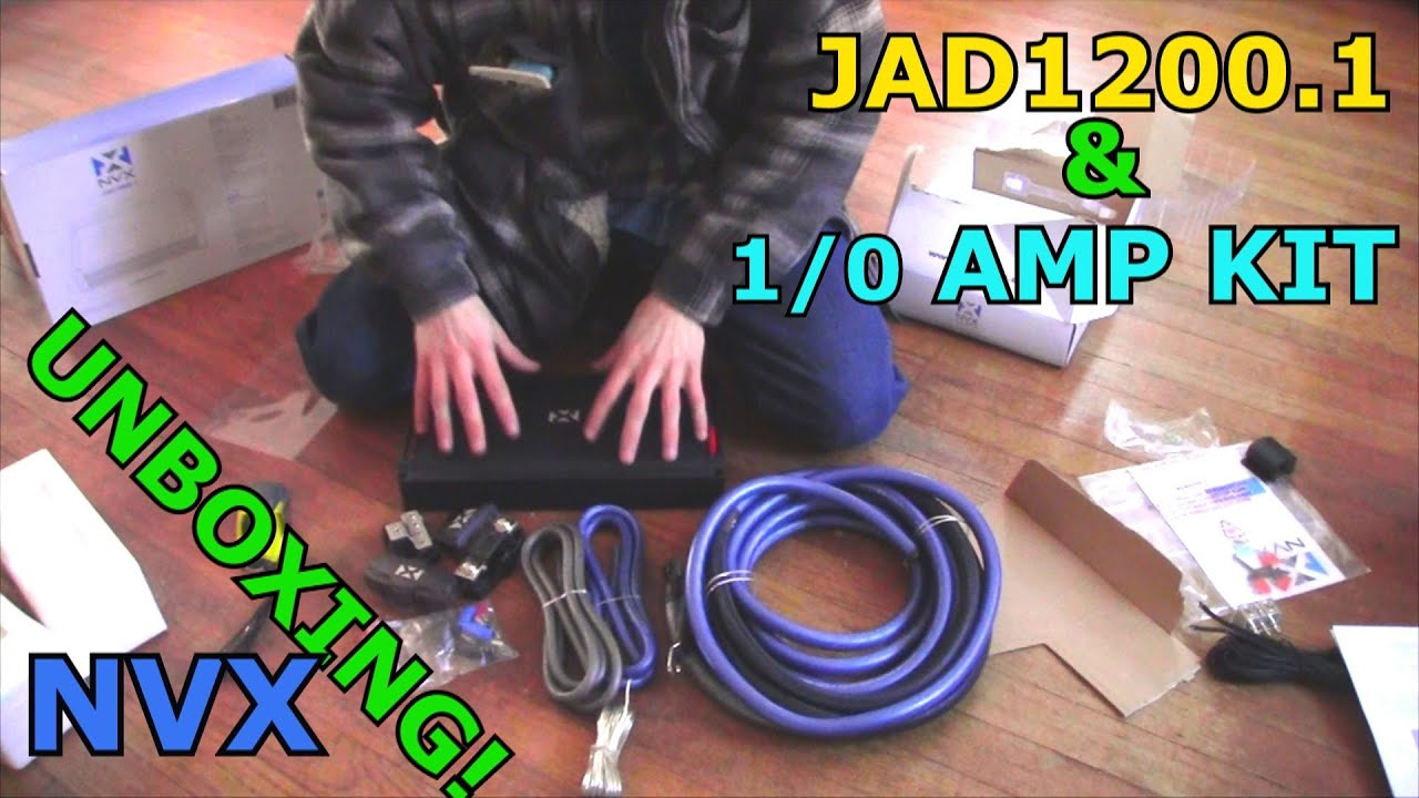Nvx jad12001 bass amp 10 gauge xapk1d amplifier wiring kit nvx jad12001 bass amp 10 gauge xapk1d amplifier wiring kit unboxing pure copper wire youtube greentooth Images