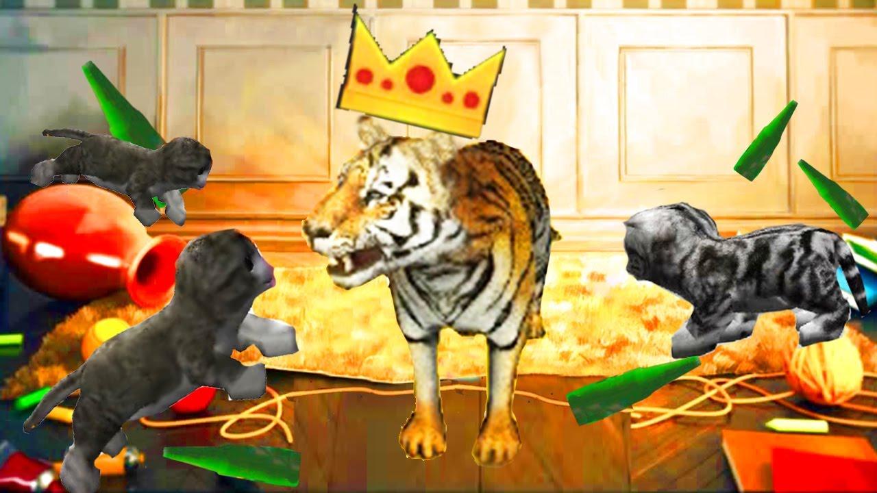Кот ломает игры