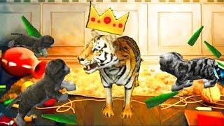 СИМУЛЯТОР КОТА 🐱🐱🐱 #21 ТИГР и котята мульт-игра про котят развлекательное видео