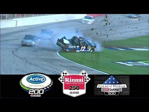 2017 NASCAR Highlights Active Pest Control 200 / Rinnai 250 / Folds Of Honor 500 - 3/3 - 3/5/2017