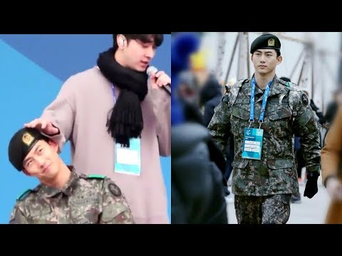 Soldier Taecyeon 2Pm 옥택연 2018 Pyeongchang Winter Olympic @ the Olympic Medals Plaza.