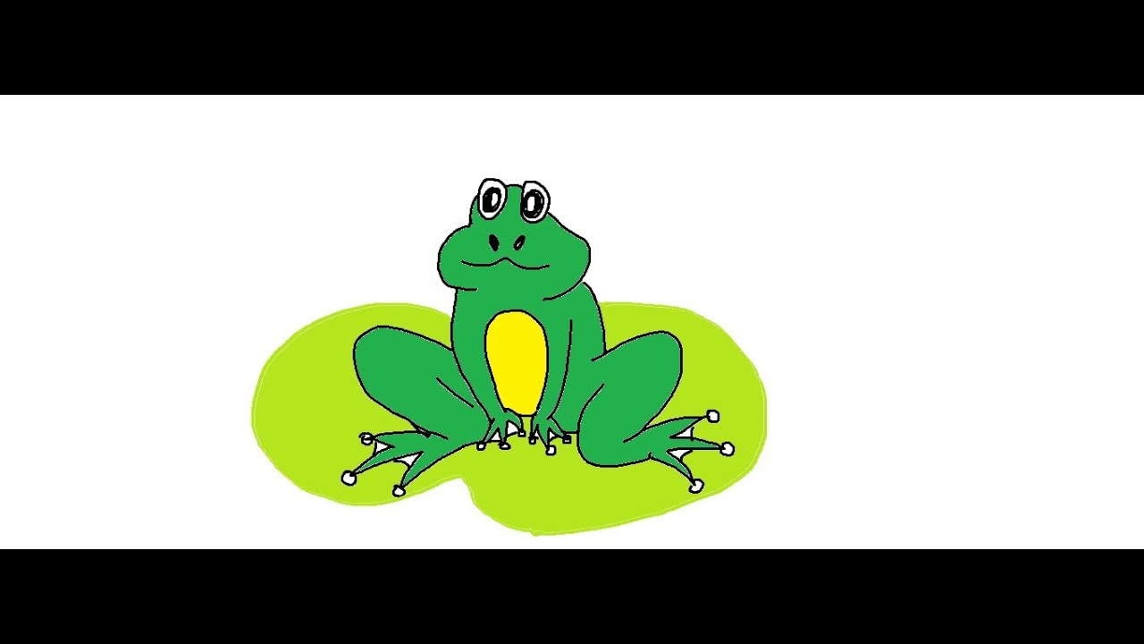 Easy Kids Drawing Lessons :How to Draw a Cartoon Frog for ...