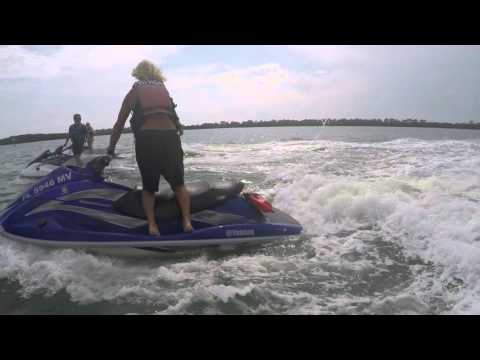 Jet Skis With Dolphin