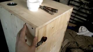 как сделать коптильню из дерева для холодного копчения