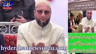 Noor Uddin Owaisi Greets His TAYA Asaduddin Owaisi