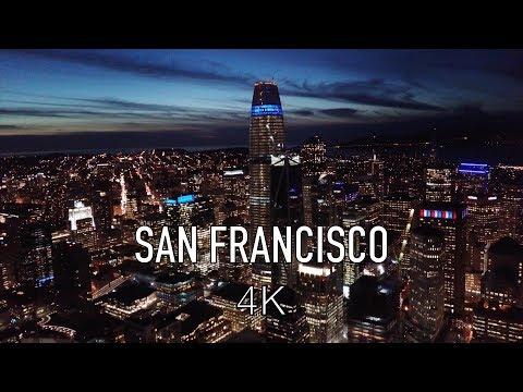 San Francisco Downtown at Night in 4K Ultra HD (DJI Mavic Pro Platinum Drone)