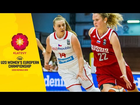 Czech Republic V Russia - Full Game - FIBA U20 Women's European Championship 2019