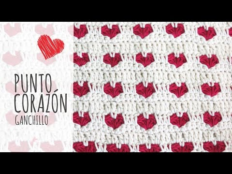 Crochet Tutorial Youtube : Tutorial Punto Corazon Ganchillo Crochet - YouTube