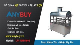 Lò nướng than hoa ngoài trời, Lò quay vịt, máy nướng đa năng, lò quay lợn mán inox