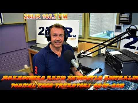 MAKEDONSKO RADIO 2NUR 103.7 FM NEWCASTLE AUSTRALIA 28-07-2018
