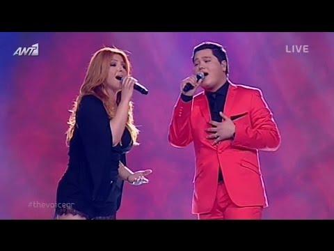 Helena Paparizou & Yuri Melikov - Kenourgia Agapi (Live @ The Voice of Greece)