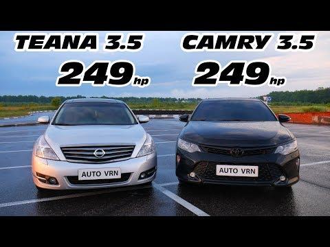ГОНКА. CAMRY 3.5 Vs TEANA 3.5 ГОНКА. КАМРИ 3.5 Vs ТЕАНА 3.5 Vs CARINA 3S-GTE!!!