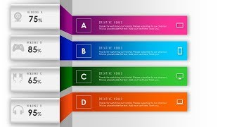 How To Design Abstract background with 4 Steps, Parts, Stages, Processes in PowerPoint PPT.