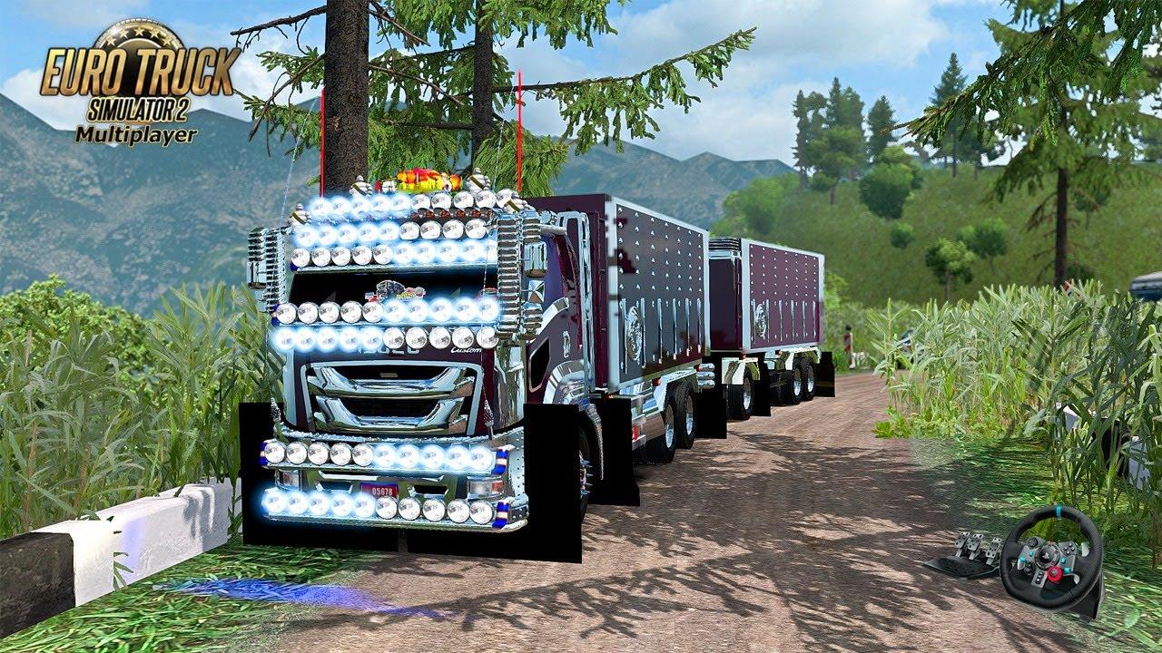🔴  วิ่งทราย ข้ามภูเขา ISUZU GIGA- Euro Truck Simulator 2 #198