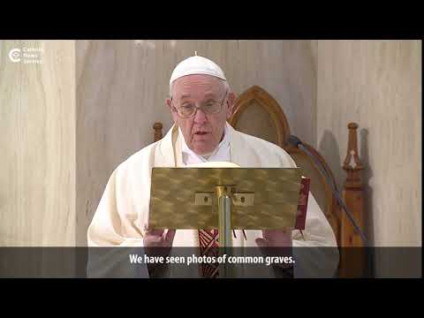 Pope prays for anonymous victims of coronavirus