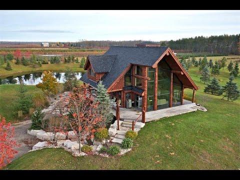 Custom Log Home Country Estate In Sauble Beach, Canada