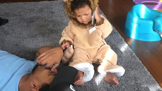 Chance The Rapper Spends Time With His Daughter