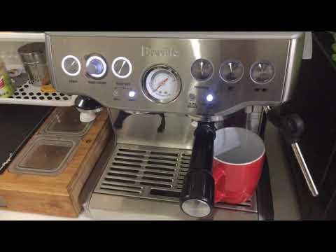 Breville BES870 Espresso Machine Americano long black