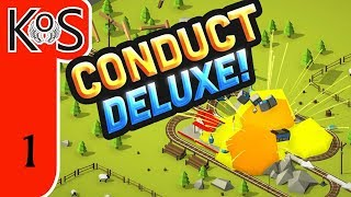Conduct Deluxe! Ep 1: TRAIN ARCADE PUZZLE GAME! - First Look - Let