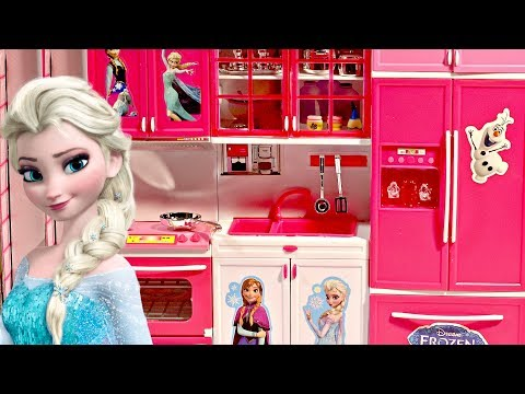 FROZEN ELSA ANNA Toy Kitchen Set Come Play With Me - Kids Play Time Tv