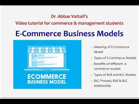 E-Commerce Business Models- Video tutorial