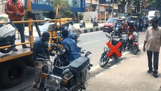 "Cop & Traffic police violating ""NO PARKING""  Rule 