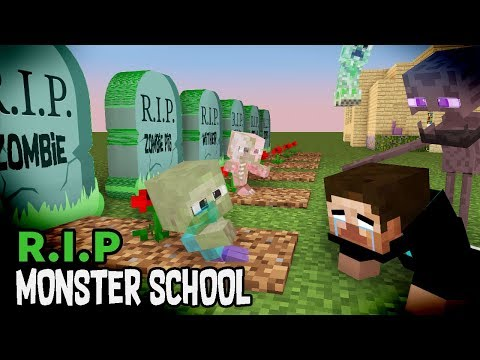 Monster School : RIP ALL  BABY Monsters (Sad story) - Minecraft Animation