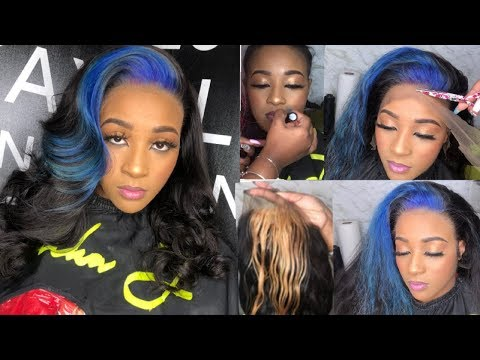 Glueless MELT   make lace Disappear   Blonde to purple-blue   RPGhair.com