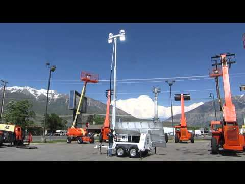 Light Tower Hybrid Solar / Kubota Diesel 11 KW 3 Phase Generator 2013 Hydraulic Raise $33,800