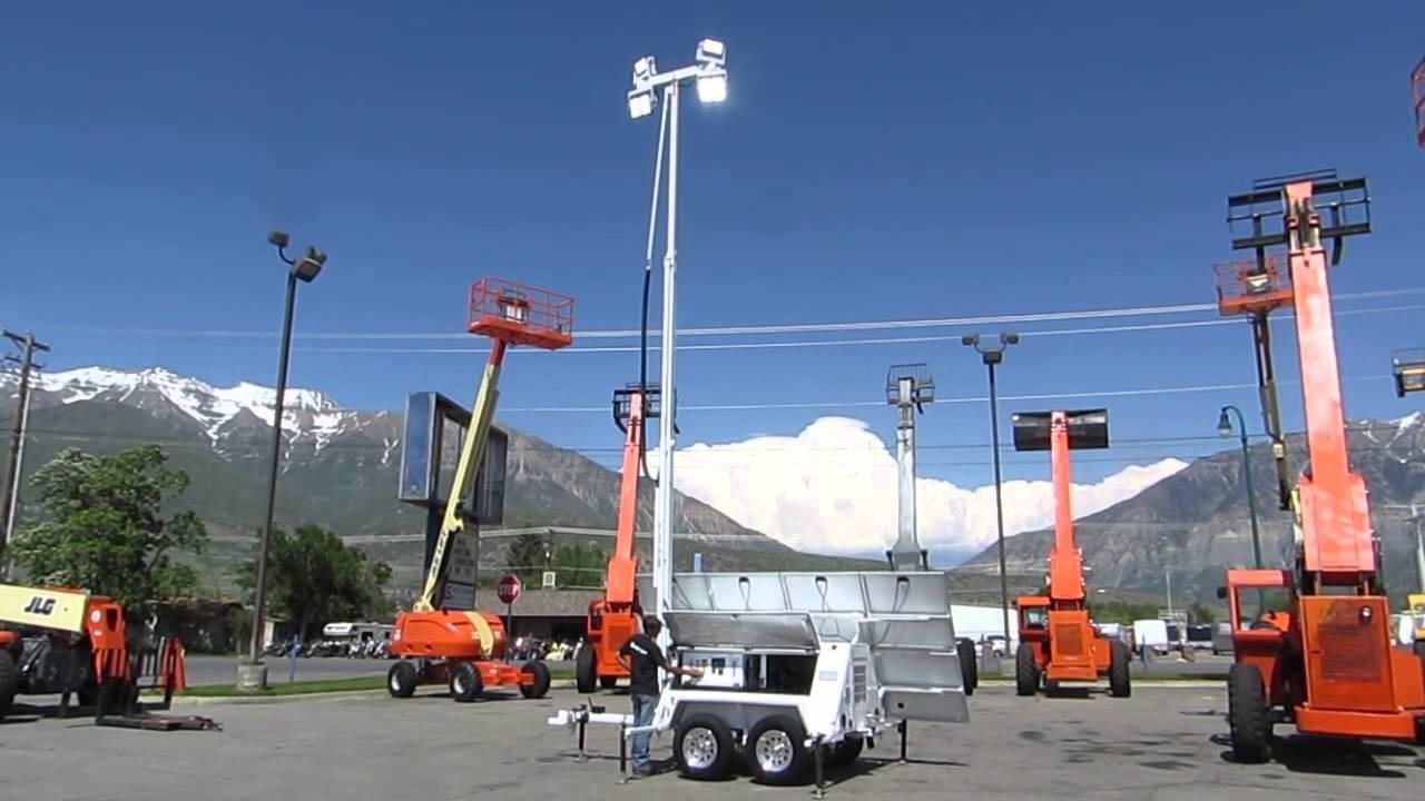 Light Tower Hybrid Solar / Kubota Diesel 11 KW 3 Phase Generator 2013 ...