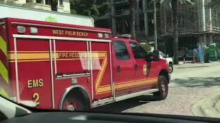 West Palm Beach Fire Rescue EMS 2 Responding