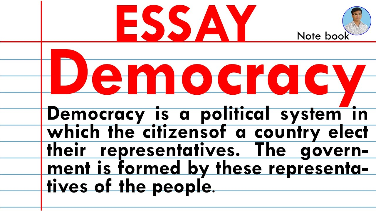 Essay of democracy