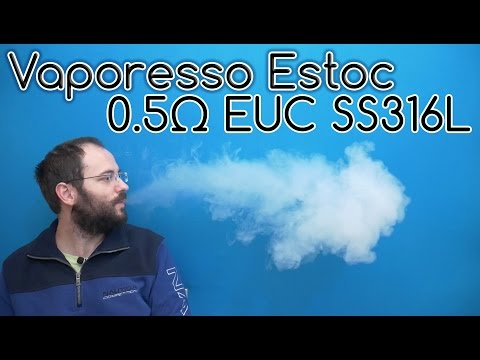 Vaporesso Estoc with 0.5ohm EUC SS316L Coil review