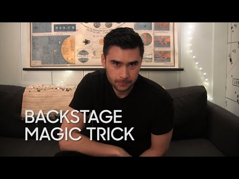 Backstage Magic Trick with Dan White