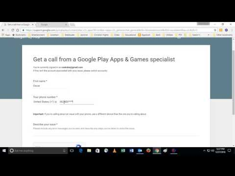 Google Support - contact via phone or chat (if available at the time)