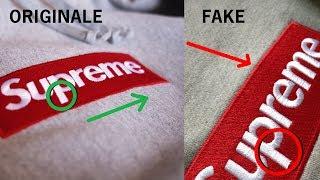 Confronto Tra Supreme Box Logo FAKE e quella ORIGINALE.  Supreme felpa box logo Legit Check
