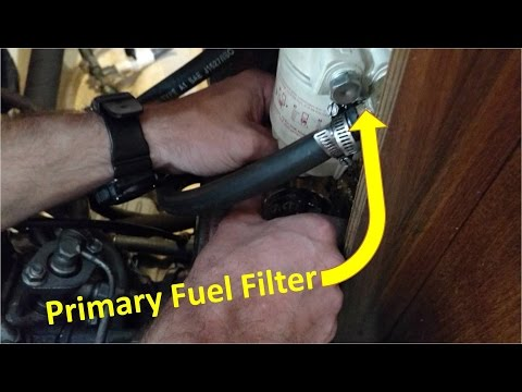 How to change oil and fuel filter for Yanmar 2GM20F engine on a sailboat