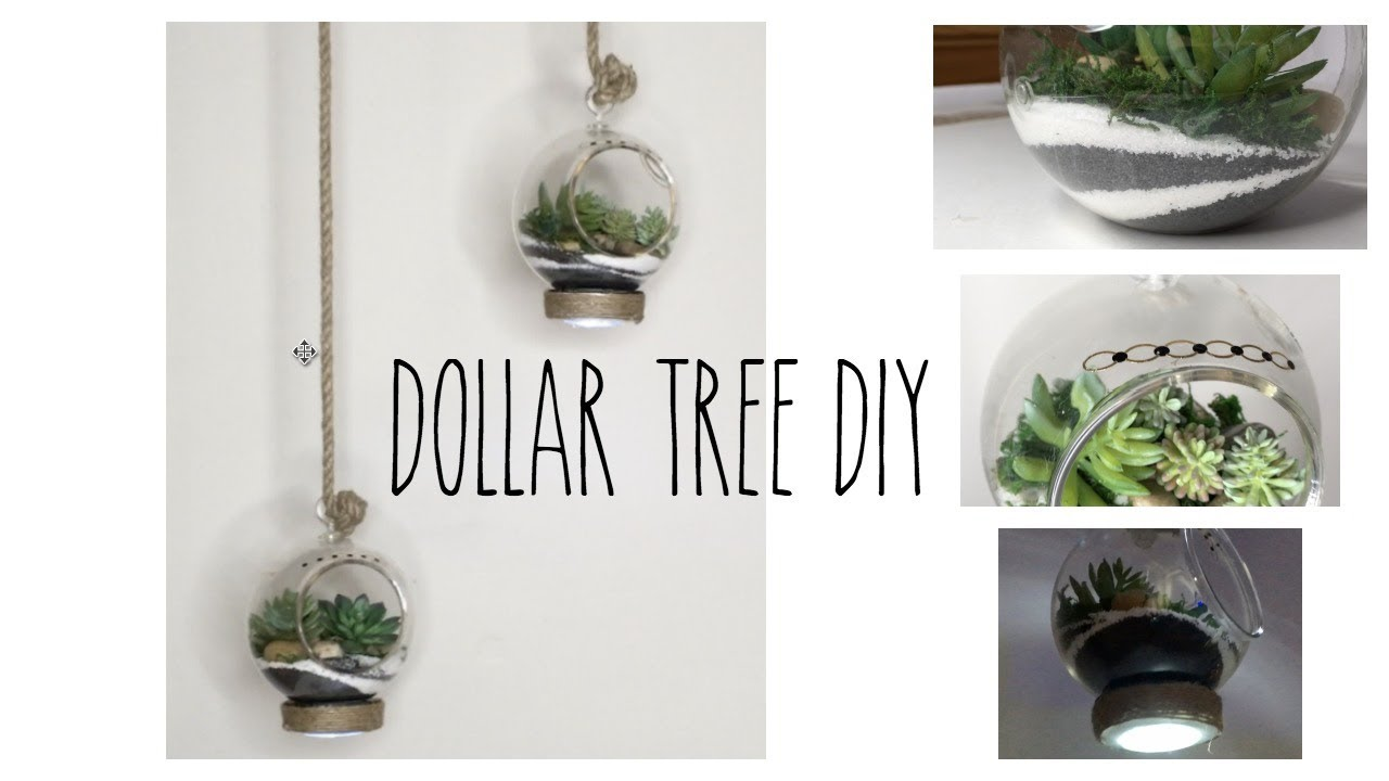 Dollar Tree Diy Hanging Terrarium Youtube