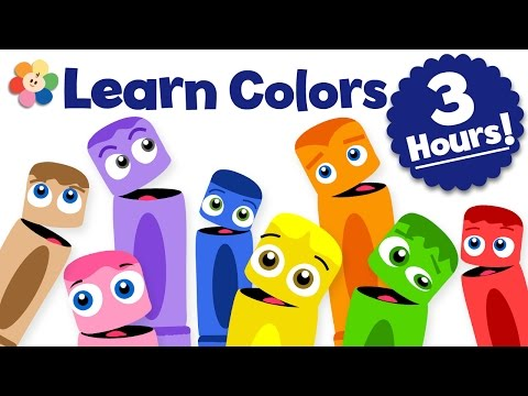 Learn Colors for Kids | Color Learning Videos for Kids | 3 Hour Color Crew Compilation | BabyFirst