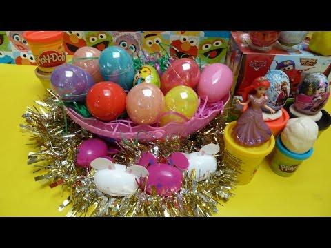 Trứng Socola Bất Ngờ Chuột Minnie, Daisy duck, Elsa, Cars Movie, Trứng Phục Sinh PIKACHU (Bí Đỏ)