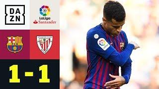 Philippe Coutinho und Co. patzen erneut: FC Barcelona - Athletic Bilbao 1:1 | LaLiga | DAZN