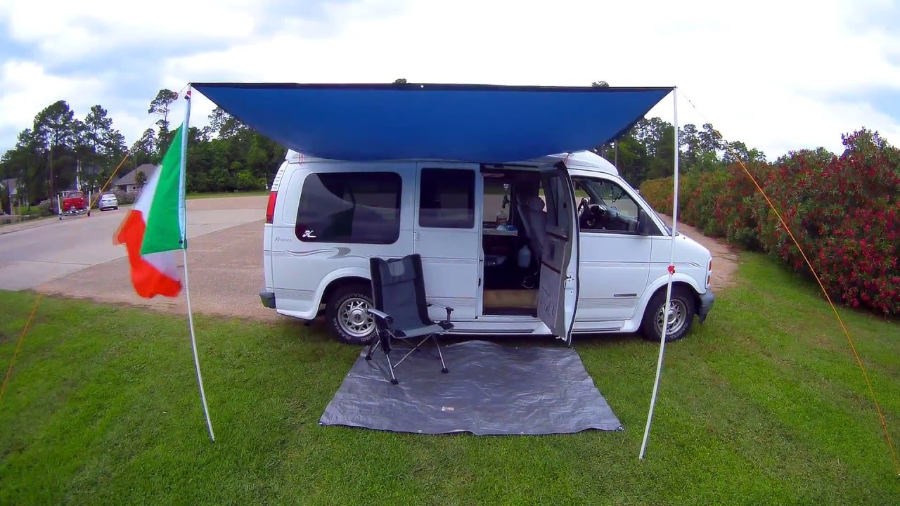 & DIY Van Awning for UNDER $50! Check it OUT! - YouTube